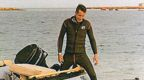 Gad with Zodiac dinghy near Arous village