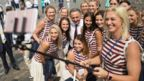 """Russia's Sports Minister Vitaly Mutko with members of the Russia""""s National Olympic"""