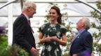 The Duchess of Cambridge talks with exhibitors