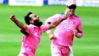 Imran Tahir celebrates a wicket