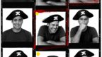 George Clooney wears a pirate hat for portraits