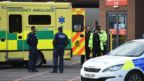 Ambulance outside Manchester Royal Infirmary