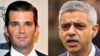 Donald Trump Jr (left) and Sadiq Khan