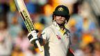 Australia captain Steve Smith celebrates his fifty