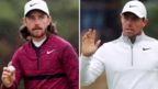 Tommy Fleetwood and Rory McIlroy in Open contention