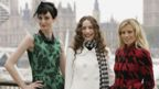 (L-R) Erin O'Connor, Elizabeth Jagger and Laura Bailey pose for a photograph as they launch a new campaign for Marks and Spencer on September 12, 2006