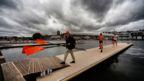 Dark skies over the 2016 Henley Royal Regatta
