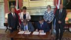 The Conservatives and DUP sign deal in Downing Street