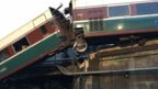 Scene of Amtrak accident in Washington state, 18 December 2017