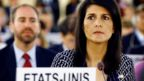 U.S. Ambassador to the United Nations Nikki Haley attends the United Nations Human Rights Council in Geneva, Switzerland June 6, 2017