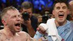 Carl Frampton outpointed WBA featherweight champion Leo Santa Cruz