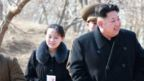n undated picture released by the North Korean Central News Agency (KCNA) on 12 March 2015 shows North Korean leader Kim Jong-un (C) touring a military unit on an island off the North Korean mainland near the sea border with South Korea in the East Sea.