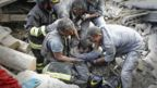 Rescue workers free man from rubble