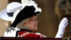 Queen Elizabeth waves to crowds