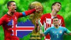 Ronaldo, Mandzukic, Essam El Hadary and Iceland