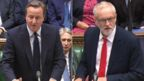 David Cameron (l) and Jeremy Corbyn in the Commons