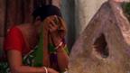 Woman hiding her face