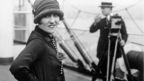 Portrait of Gloria Swanson on board Aquitania 1925