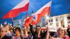 A protest in Lublin on 23 July