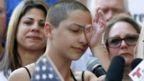 Emma Gonzales cries at podium