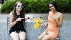 Disha Singh and Rebecca Lipstein, interns at Socialfly. (Credit: Socialfly)