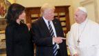 Melania Trump, Donald Trump and the Pope