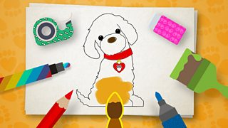 photograph relating to Dog's Colorful Day Printable named Create Shade as a result of Fashion: Printable - CBeebies - BBC