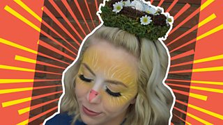 Easter makeup tutorial: chick