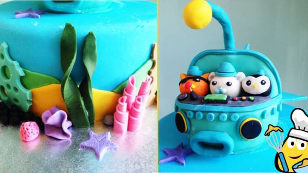 Peachy Octonauts Underwater Cake Cbeebies Bbc Funny Birthday Cards Online Necthendildamsfinfo
