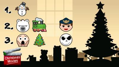 Emojis describing 3 Christmas films.