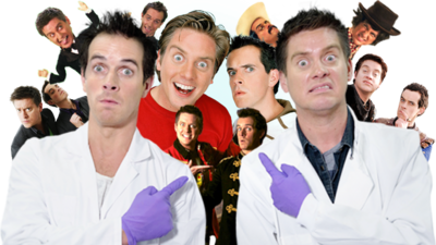 Lots of versions of Dick and Dom from over the past twenty years on CBBC.