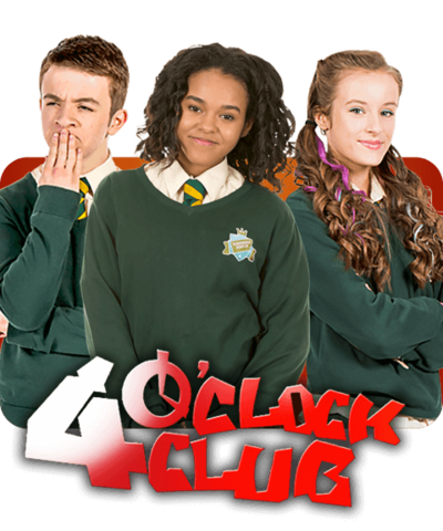 And One Boy In School Uniform With The 4 O Clock Club Logo