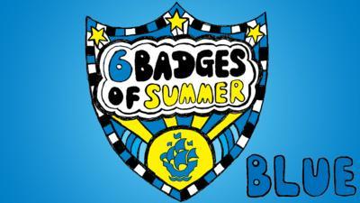 Blue Peter 6 Badges Logo.