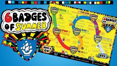 A 6 Badges Wall Chart.