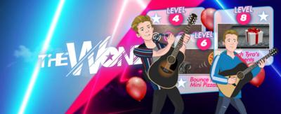 Cartoon versions of Harry and Oakley from Almost Never are ready to party in this rhythm game.