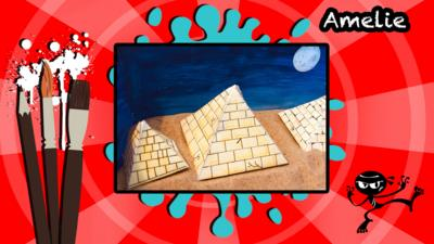 An artistic creation of three Pyramids made by a user called Amelie.