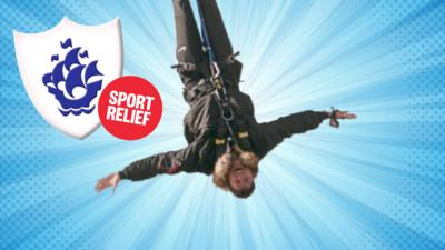 Blue Peter - Richie's EPIC bungee jump!