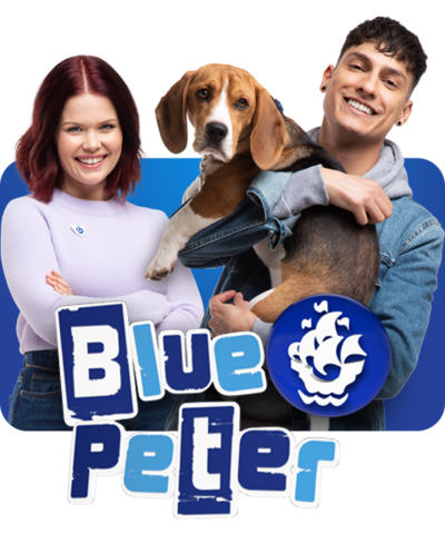 The Blue Peter team: Lindsey, Henry and Richie.