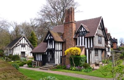 The stunning tudor exterior of Selly Manor Museum.