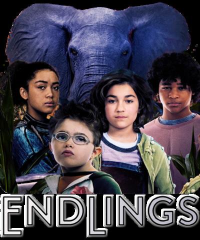 Finn, Julia, Johnny, Tabby and Tuko the elephant.