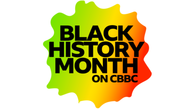 Text reads 'black history month on cbbc'.