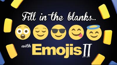 CBBC Official Chart Show - Quiz: Fill in the blanks with emojis 2