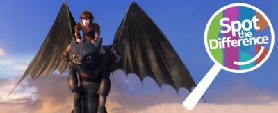 A boy rides a dragon. Hiccup Horrendous Haddock III rides Toothless.