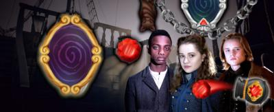 Alissa, Malcom and Lars from Heirs of the Night feature in this new CBBC game based on Heirs of the Night.