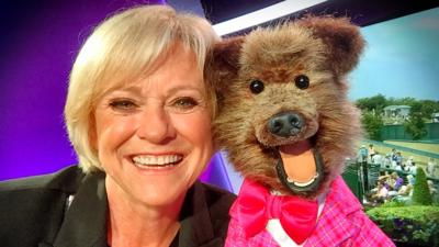 CBBC HQ - Hacker sings with Sue Barker