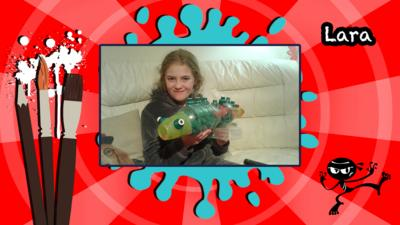 A homemade bottle fish by Lara.
