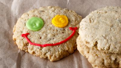 cookie with smiley face
