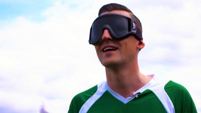 MOTD Kickabout - Ben Shires tries blind football