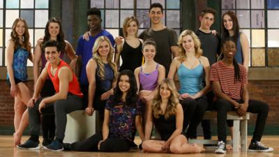 Image of the Next Step cast in the Next Step studio