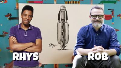 CBBC Book Club - Rob Biddulph draws a sausage dog